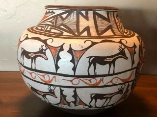Very Large Historic Zuni Pueblo Pottery Pot Water Olla Circa 1900