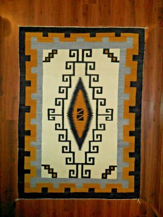 Navaho Navajo Rug/weaving.  Two Grey Hills Area.  Diamond.  Excond.  Nr