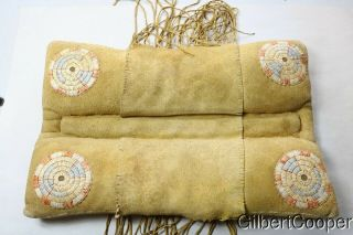 Sioux Quilled Horse Riding Pillow