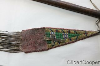 19TH CENTURY PIPE TOMAHAWK - SIOUX BEADED DROP 8