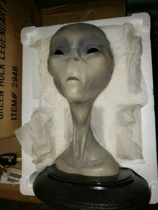 The Grey Real Alien,  Full Size Bust,  Statue,  Ufo,  Bear Den,  Rare
