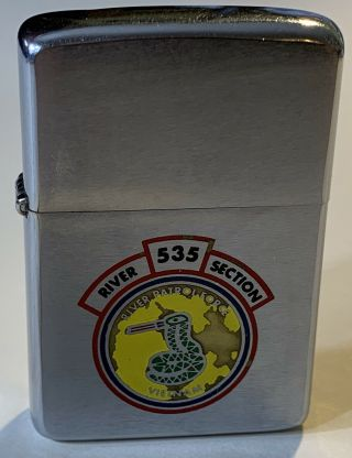 1968 Vietnam Zippo - Pbr Force River Section 535 - 2 Sided Factory Engraved