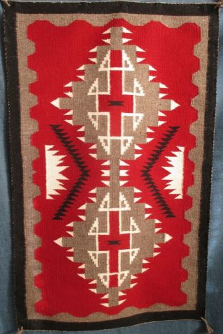"""Authentic Vintage Finely Woven Native American Indian Navajo Rug 24 """" X 39 """""""