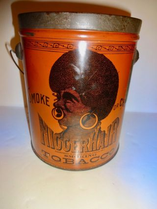 Vintage Bigger Hair Tobacco Tin Advertising
