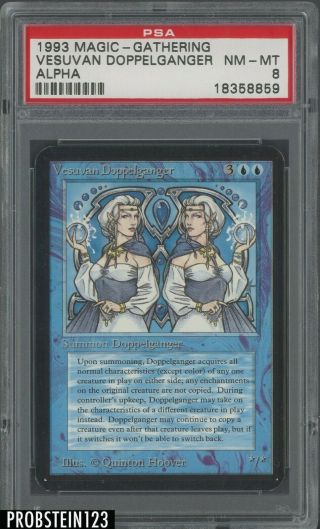 1993 Magic The Gathering Mtg Alpha Vesuvan Doppelganger Psa 8 Nm - Mt