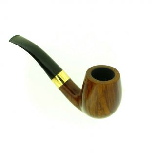 JESS CHONOWITSCH BENT BRANDY GOLD BAND PIPE 8