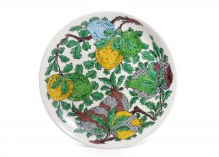 A Very Fine And Large Chinese Famille Verte Porcelain Dish