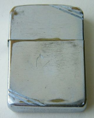 Zippo 1936 - 1941 Patent 2032695,  4 Barrel Hinge,  Cross Cut Corners