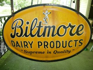 Biltmore Dairy Products Supreme Quality Sign 2