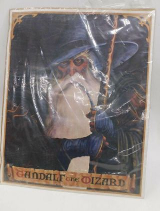 Lord Of The Rings - Gandalf The Wizard Rare Vintage Hobbit Poster 1977 Al Hudson