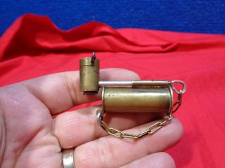Vintage Brass Miniature Smoking Pipe Box - L