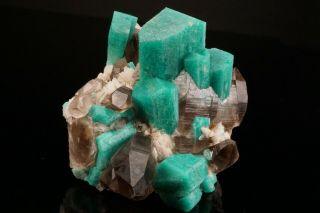 EXTRAORDINARY Amazonite & Smoky Quartz Crystal Cluster YUCCA HILL,  COLORADO 2