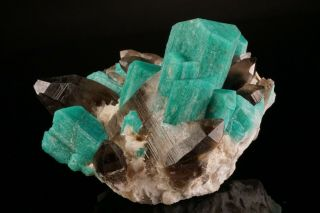 EXTRAORDINARY Amazonite & Smoky Quartz Crystal Cluster YUCCA HILL,  COLORADO 3