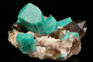 EXTRAORDINARY Amazonite & Smoky Quartz Crystal Cluster YUCCA HILL,  COLORADO 4