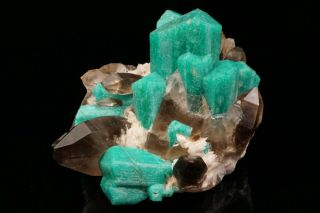 EXTRAORDINARY Amazonite & Smoky Quartz Crystal Cluster YUCCA HILL,  COLORADO 5