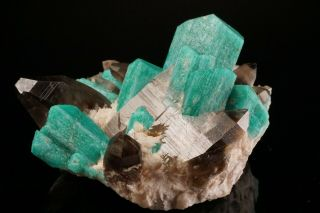 EXTRAORDINARY Amazonite & Smoky Quartz Crystal Cluster YUCCA HILL,  COLORADO 9
