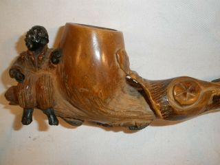 Orangewood Alligator Smoking Pipe With Seated Figure Antique Collectable Florida