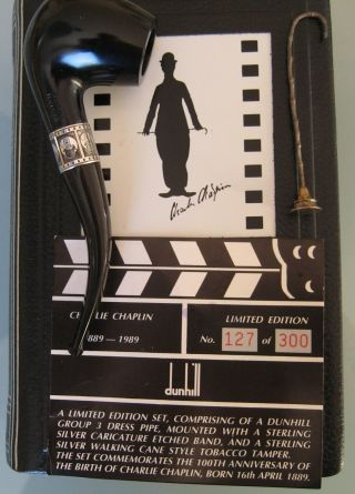 ' 89 Dunhill Estate Charlie Chaplin Pipe Pfeife Pipa 127/300 smoked only once 5