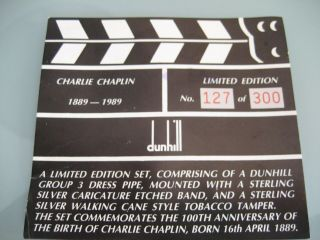 ' 89 Dunhill Estate Charlie Chaplin Pipe Pfeife Pipa 127/300 smoked only once 6