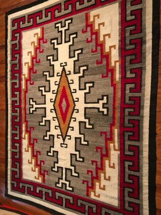 LARGE NAVAJO KLAGETOH RUG,  INTRICATE DESIGN,  COLORS, 9