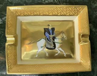 Hermes Cigar Ashtray Gold Samurai Hhh Mark