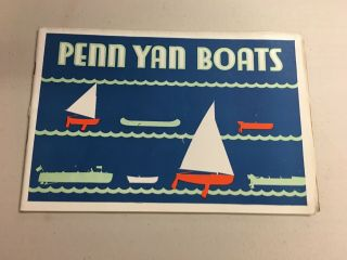 1930 Penn Yan Boats And Outboard Racing Craft Catalogs