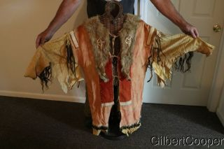 SIOUX SHAMANS BEADED AND QUILLED WAR SHIRT - MULTIPLE DROPS 7