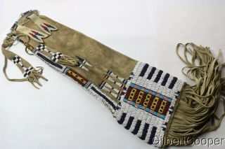 Cheyenne Beaded And Fringed Pipe Bag - Ernest Von Kronwitter