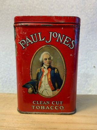 Rare Paul Jones Pocket Tobacco Tin