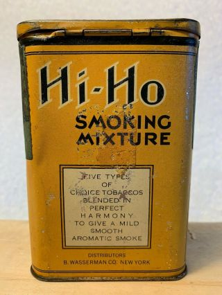 VERY RARE HI - HO POCKET TOBACCO TIN 2