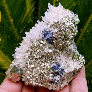 Spectacular 3 1/4 Inch Clear Quartz Crystals With Pyrite