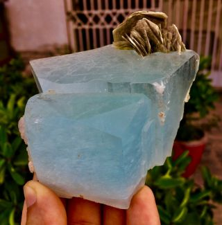 Wow 1754 C.  T Top Class Damage Terminated Blue Color Aquamarine Crystal