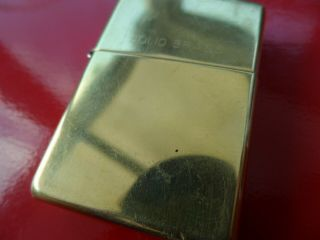 2 Vintage Zippo Lighters Brushed Chrome Finish and Solid Brass 2