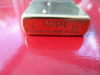 2 Vintage Zippo Lighters Brushed Chrome Finish and Solid Brass 3