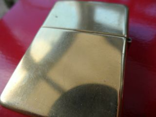 2 Vintage Zippo Lighters Brushed Chrome Finish and Solid Brass 4