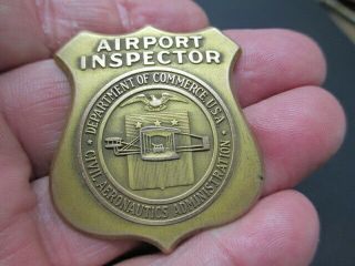 Airport Inspector Badge 67 C.  A.  A.  1940 - 58 Airline Aviation Pre Faa Police