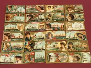 Duke Ocean & River Steamers 36 Tobacco Cards Complete 1887