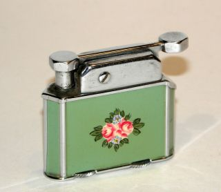1929 Art Deco Enamel Elgin Otis 6 Side Automatic Liftarm Petrol Pocket Lighter