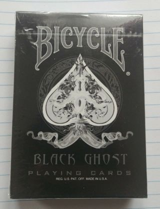 Rare Bicycle Black Ghost 1st First Edition (with Wrapping) Ellusionist
