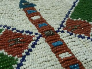 Large Cheyenne or Sioux Beaded & Quilled Pipe Bag 11