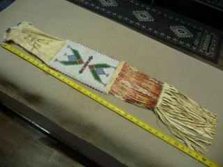 Large Cheyenne or Sioux Beaded & Quilled Pipe Bag 2