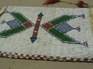 Large Cheyenne or Sioux Beaded & Quilled Pipe Bag 4
