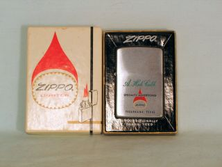 1967 Zippo Lighter For Specialty Advertising Firm With The Zippo Flame - Nib
