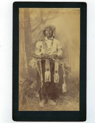 Old Photo Of Apache Chief By A.  Frank Randall