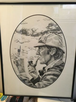 Sherlock Holmes Pipe Print Limited Edition Signed Tinder Box