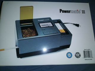 Powermatic Iii 3 Electric Digital Cigarette Injector Rolling Machine