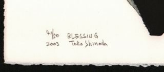 TOKO SHINODA Japanese Lithograph Print With Hand Applied Color BLESSING 2