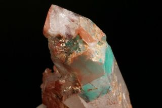 Ajoite Phantom & Hematite in Quartz Crystal MESSINA MINE,  SOUTH AFRICA 11