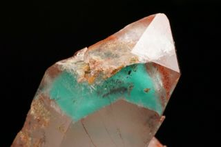 Ajoite Phantom & Hematite in Quartz Crystal MESSINA MINE,  SOUTH AFRICA 8