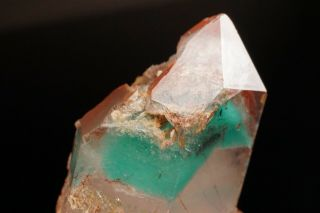 Ajoite Phantom & Hematite in Quartz Crystal MESSINA MINE,  SOUTH AFRICA 9